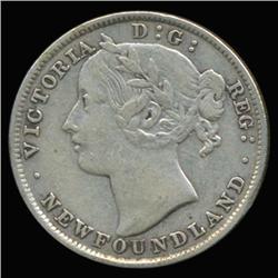 1894 Canada Newfoundland 20c Silver Hi Grade RARE (COI-6762)