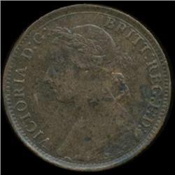 1895 Britain Victoria Farthing High Grade RARE DATE (COI-7059)
