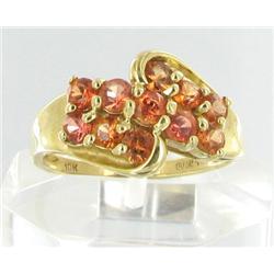 1ct Golden Rose Sapphire 10k Gold Ladies Ring (JEW-1514)