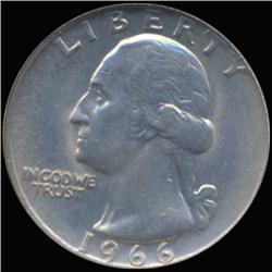 1966 Washington 25c Quarter Coin Graded GEM (COI-6853)