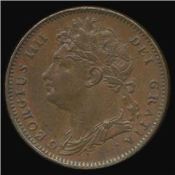1825 Britain George IV Farthing High Grade (COI-7077)