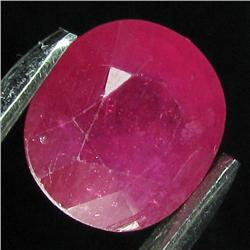 5.8ct Oval Cut Red Ruby Madagascar Appraised $8k (GEM-17972)