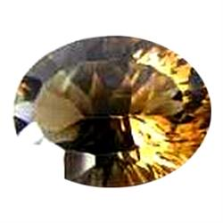 8.34ct Concave Oval Champagne AAA Topaz (GEM-22977A)