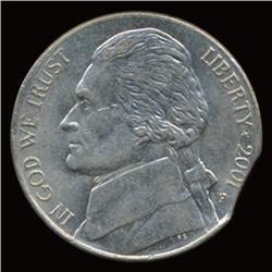 2001P Jefferson Nickel Clip Error Choice Uncirculated (COI-5122)