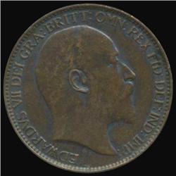1903 Britain Edward Farthing Unc MS63+ (COI-7084)