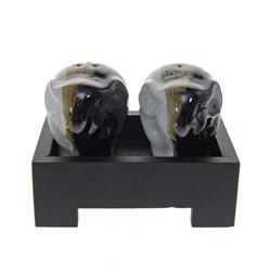 Ceramic Elephant Salt & Pepper Set (DEC-184)