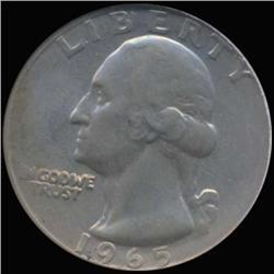 1965 Washington 25c Quarter Coin Graded GEM (COI-6852)