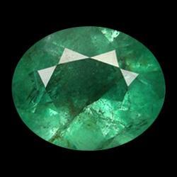 0.99ct Natural Mint Green Zambian Emerald Oval Facet (GEM-25827)