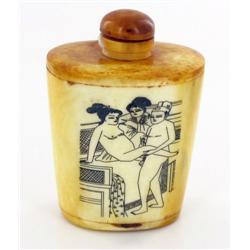 Kamasutra Chinese Bone Snuff Bottle (CLB-562)
