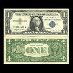 1957B $1 Silver Certificate High Grade AU (CUR-06019)