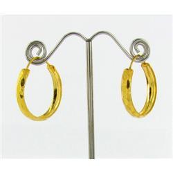 """22k Gold Vermeil Earrings 1"""" (JEW-1598)"""