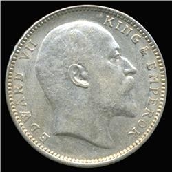 1907B India Silver Rupee High Grade (COI-6635)