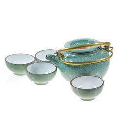 Excellent Crackle Glazed Ceramic Tea Set (CLB-201)