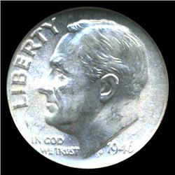 1946D Roosevelt Dime Graded NGC MS66 FB (COI-4550)