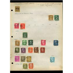 1927 Germany Hand Made Stamp Collection Album Page 22 Pieces (STM-0132)