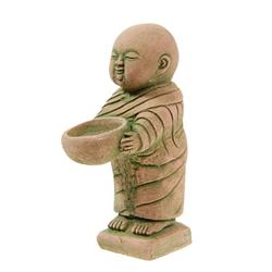 Hand Formed Sandstone Monk w/ Bowl (CLB-166)