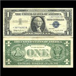 1957B $1 Silver Certificate Star Note Better Grade SCARCE (CUR-06026)