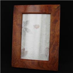Handcrafted Afzelia Burl Frame (DEC-343)
