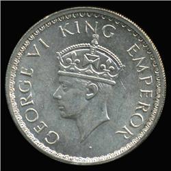 1942B India Silver 1/2 Rupee High Grade (COI-6655)