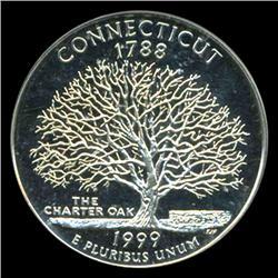 1999S Connecticut 25c Proof Quarter Coin Graded ICG PR70 DCAM (COI-5416)