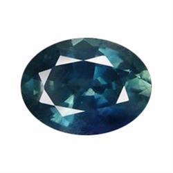 1.26ct Marvelous Bluish Green Sapphire Oval Facet (GEM-19580)