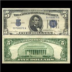 1934D $5 Silver Certificate Hi Grade AU (CUR-06045)