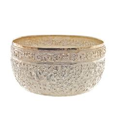 Beautiful Hand Chased 100% Thai Silver Bowl  (CLB-392)