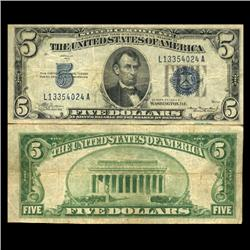 1934A $5 Silver Certificate Circulated (CUR-06041)