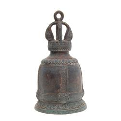 "Vintage Bronze Thai Buddhist Temple Bell 8"" (ANT-570)"