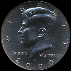 2000D Kennedy Half 50c Coin Graded GEM (COI-6921)