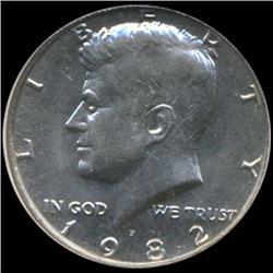 1982 Kennedy Half 50c Coin Graded GEM (COI-6913)