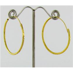 "22k Gold Vermeil Earrings 1.5"" (JEW-1600)"