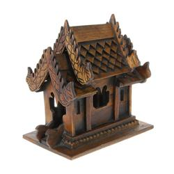 Teak Handcarved Spirit House on Base (CLB-208)