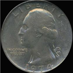 1974 Washington 25c Quarter Coin Graded GEM (COI-6874)