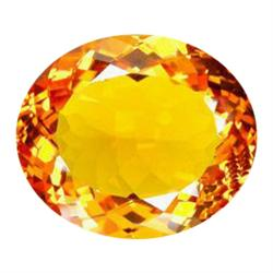 79.65ct Impressive AAA Orange Yellow Citrine Oval Cut Appraisal Estimate $15930 (GEM-25137)