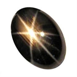 0.83ct Oval Black 6 Rays Star Sapphire (GEM-22309D)