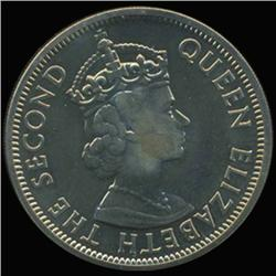 1969 Seychelles Rupee Elizabeth Proof PR68+ (COI-6959)