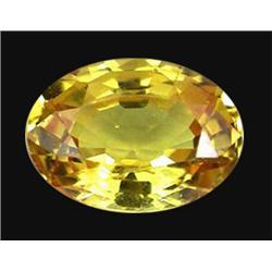 1.00ct Stunning Yellow Oval Sapphire Ceylon (GEM-19841)