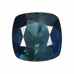 1.44ct Natural Greenish Blue Sapphire Cuhsion Facet (GEM-19546)