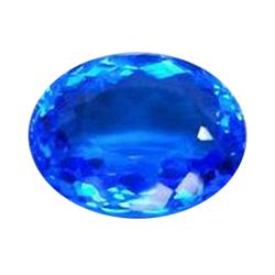 59.57ct Luxurious Oval Tanzanite Blue Quartz Brazil   (GEM-23957)