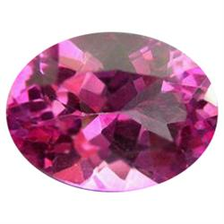 1.00ct Charming Mystic Pink Oval Topaz Appraisal Estimate $2500 (GEM-24276B)