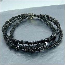 23.81ct Natural Black Diamond Necklace Uncut  (JEW-1704)