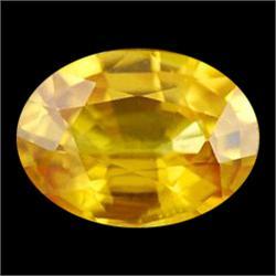 1.27ct Oval Golden Yellow Genuine Sapphire  (GEM-20006)