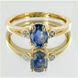 1.8+ct Top VVS Ceylon Sapphire & Diamond Ladies Ladies Ring 18k (JEW-3801)