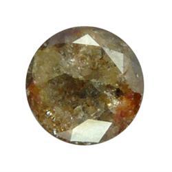 2.61ct Natural Brown Round Cut Unheated Diamond (GEM-16853)