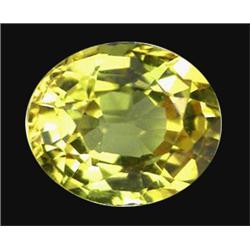 1.16ct Extreme Yellow Oval Sapphire Ceylon (GEM-19843)
