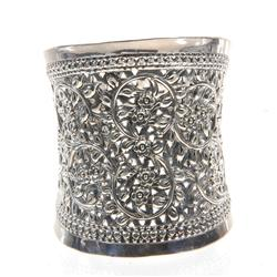 Handmade Hill Tribe Silver Cuff Bracelet (JEW-073)