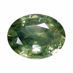 1.13ct Marvelous Medium Green Sapphire Oval Facet Africa (GEM-19552)