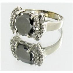 2.5ct Black & White Diamond Ladies 14k White Gold Ring (JEW-1435)