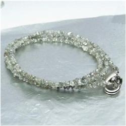 23.66ct Natural White Diamond Necklace Uncut  (JEW-1707)